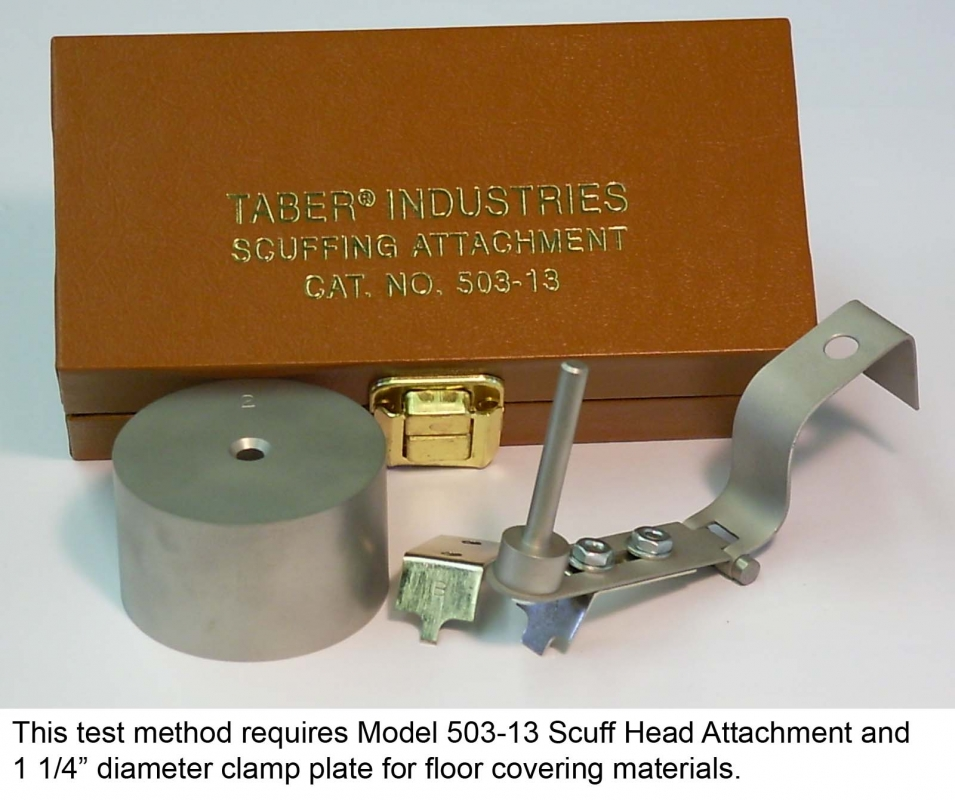 Test Method Scuffing Attachment Taber Industries