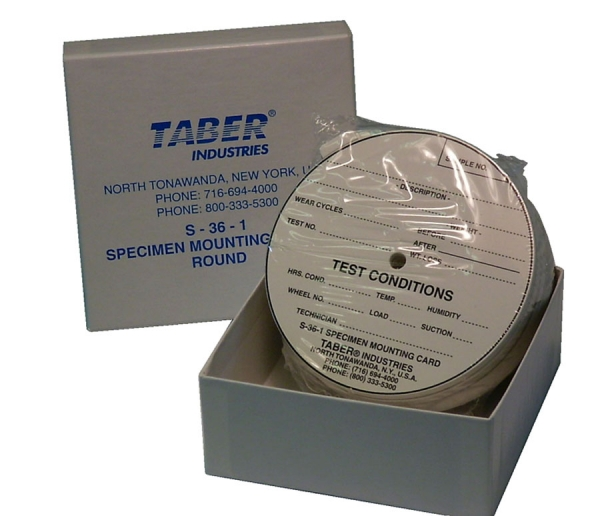 Taber S-36-1 Round Mounting Cards